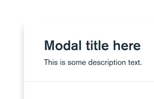 Learn more about Modal component