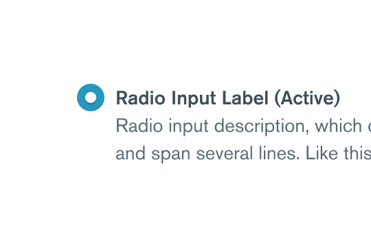 Learn more about Radio Group component